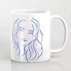 Blue Portrait Mug