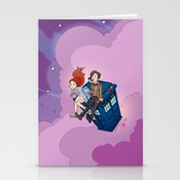 dodgers Stationery Cards featuring Jammie Dodgers Doctor Who by Aimee Steinberger