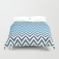 chevron Duvet Covers featuring Chevron by David Zydd