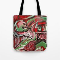 skeleton Tote Bags featuring Skeleton by Helen Syron