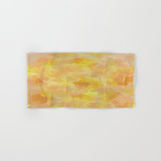 Floating Flowers Painterly Abstract Hand & Bath Towel