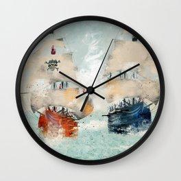 the pirate ship Wall Clock