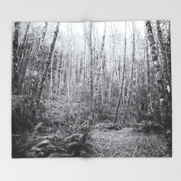 Cottonwoods in the Forest Throw Blanket