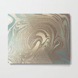 Mermaid Gold Wave 2 Metal Print