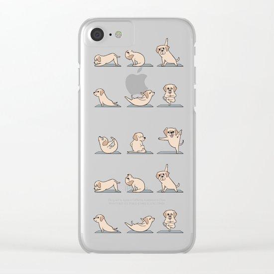 Labrador Retriever Yoga Clear iPhone Case
