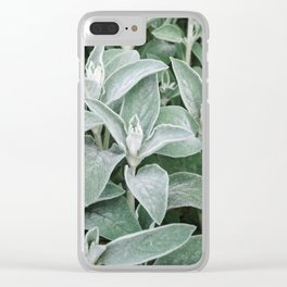 Texture Leaves Close-up Outdoors Natural Clear iPhone Case