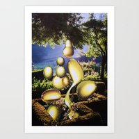 oil Art Prints featuring Oil by John Turck