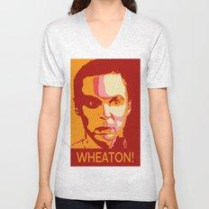 WHEATON! Unisex V-Neck