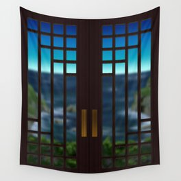 Going Out Your Door Wall Tapestry