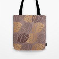 calligraphy Tote Bags featuring Calligraphy 4 by Johs