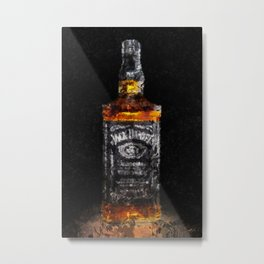 Jack Daniels Whiskey Wall Art, Print, Home Decor, Dorm Decor, Impressionism Metal Print