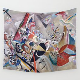In Grey, Abstract, Wassily Kandinsky, 1919 Wall Tapestry