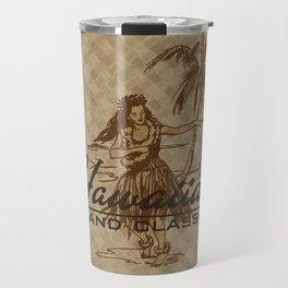 Tradewinds Hawaiian Island Hula Girl Travel Mug