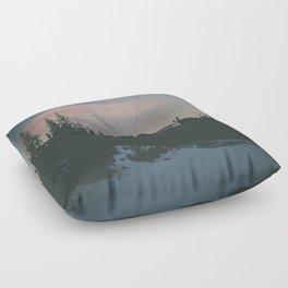 Frozen Mirror Lake Floor Pillow