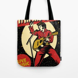 Elvis -Retro Las Vegas Poster Tote Bag