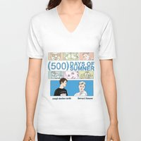 500 days of summer V-neck T-shirts featuring 500 Days of Sumner by StellaDays