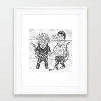 pun Framed Art Prints featuring Pun Croc by Gimetzco's Damaged Goods