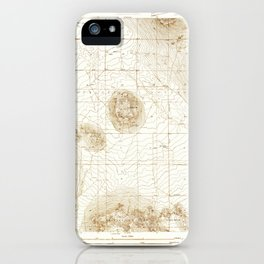Lovejoy Springs, CA from 1930 Vintage Map - High Quality iPhone Case