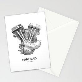 Vintage Harley Panhead Motorcycle Engine Stationery Cards