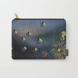 Tropical Underwater Wave  Carry-All Pouch