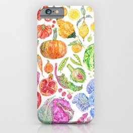 Rainbow of Fruits and Vegetables iPhone Case