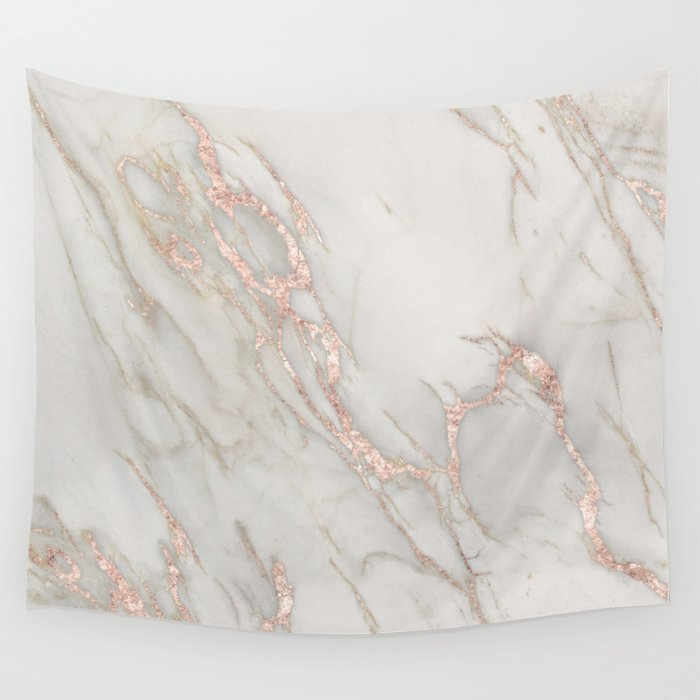 Marble Rose Gold Blush Pink Metallic By Nature Magick Wall