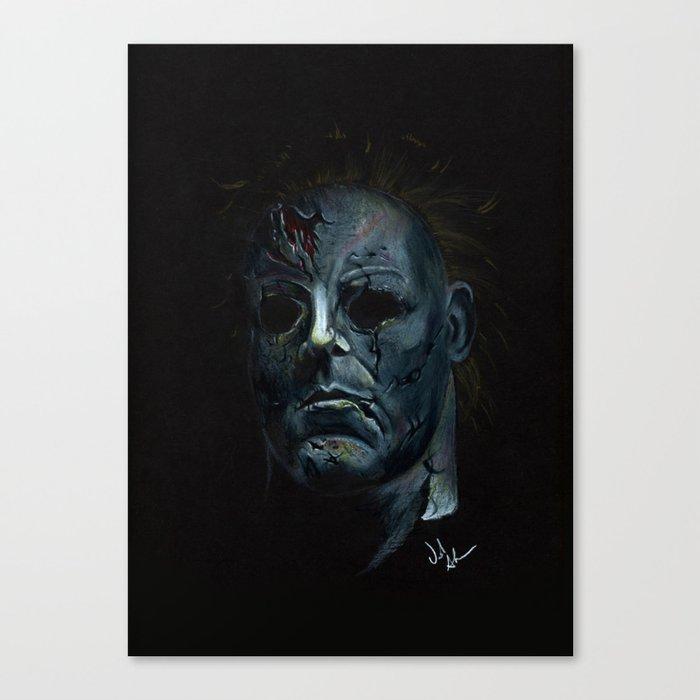 Halloween Michael Myers Canvas Print By Joshuatattoo