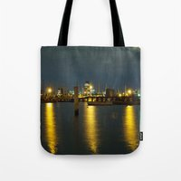 melbourne Tote Bags featuring Melbourne by popbones