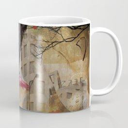 Raven in a City Coffee Mug