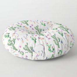 Llama Llamarama + Cactus Floor Pillow