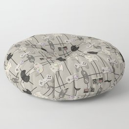Paper Cut-Out Video Game Controllers Floor Pillow