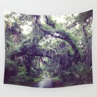 spanish Wall Tapestries featuring Spanish Moss by Lillian Ondus