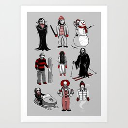 Horror lives winter Art Print