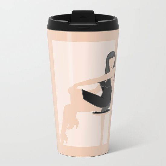 Cool Woman Metal Travel Mug