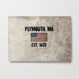 Plymouth, MA.  Established 1620 Metal Print