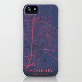 McKinney, United States - Neon iPhone Case