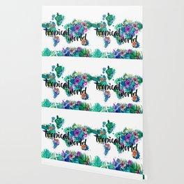 world map tropical vibes #world map #tropical Wallpaper