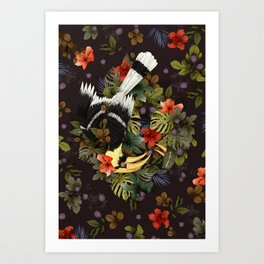 Hornbill Mother's Shelter Art Print