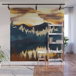 Fall Sunset Wall Mural