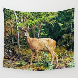 The Wandering Deer Wall Tapestry