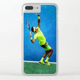 Del Potro Tennis Serve Clear iPhone Case