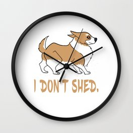 Dog Doglover Corgi dog cute pet funny gift fluffy birthday Wall Clock