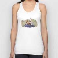 hobbes Tank Tops featuring Chunk and Sloth by Hoborobo