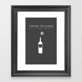 looking for alaska Framed Art Print