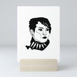 Lisbeth Salander  Face Draw Mini Art Print