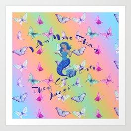 #MoreThan Rainbow Sherbert Art Print