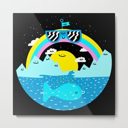 Rainbow Space World Metal Print