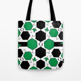 Green Black Tote Bag