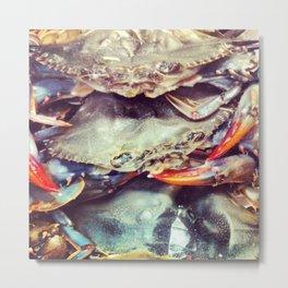 Crabby Patty Metal Print