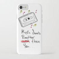cassette iPhone & iPod Cases featuring Cassette by Melis Kalpakçıoğlu